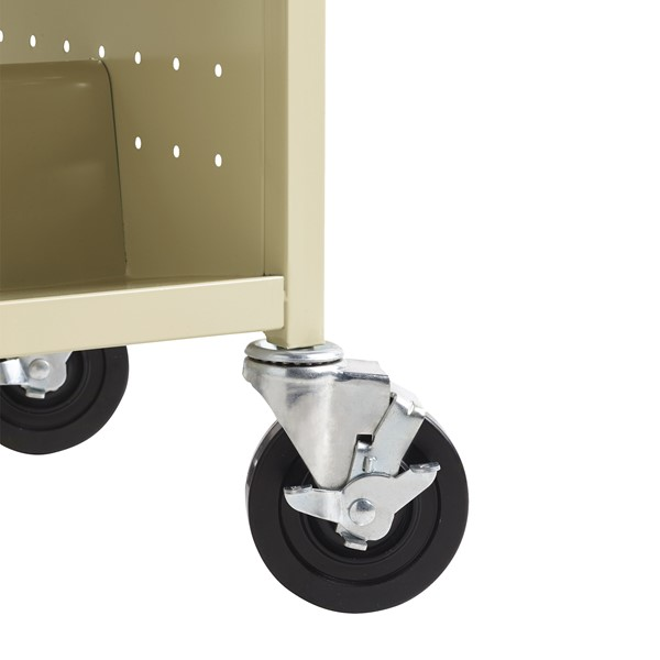 Double-Sided Sloped-Shelf Book Cart - Caster