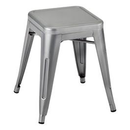 "Metal Stack Stool - 18\"" H - Silver"