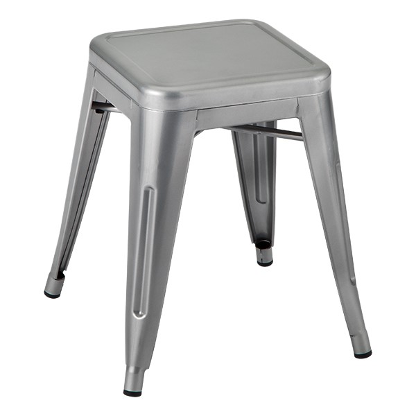 Pack of 2 NOR-IAH3021-BL-SO Black Norwood Commercial Furniture Tolix Style Metal Industrial Stack Stool