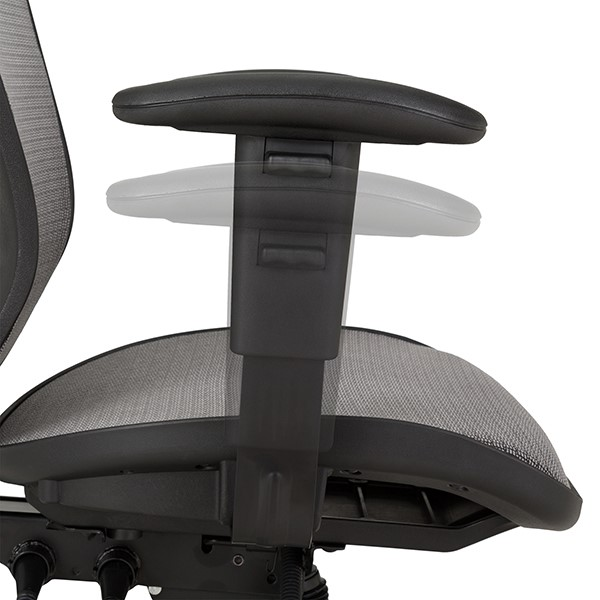 Breathable Mesh Office Chair - Arms - Adjustability