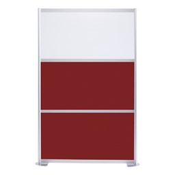 """Modern Privacy Panel w/ Colored & Translucent Infill Panels (4' 4"""" W x 6' 6"""" H) - Maroon w/ White Panel"""