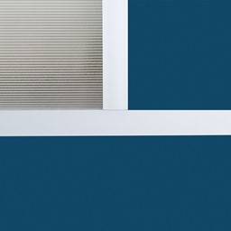 """Modern Privacy Panel w/ Colored & Translucent Infill Panels (4' 4"""" W x 6' 6"""" H) - Close Up"""