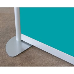 """Modern Privacy Panel w/ Colored & Translucent Infill Panels (6' 4"""" W x 6' 6"""" H) - Stationary Base"""