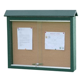 Double-Sided Recycled Plastic Outdoor Message Board - Large