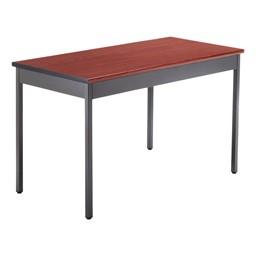 Heavy-Duty Utility Table w/ Scratch-Resistant Paint - Cherry