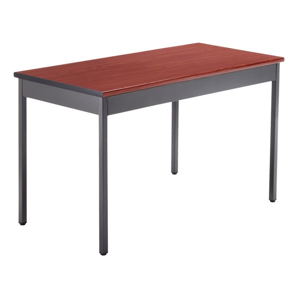"Heavy-Duty Utility Table w/ Scratch-Resistant Paint (24"" W x 48"" L) - Cherry"