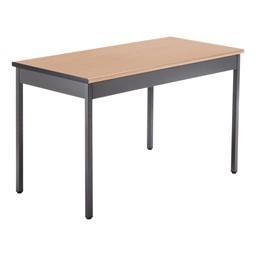 "Heavy-Duty Utility Table w/ Scratch-Resistant Paint (24"" W x 48"" L) - Maple"