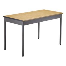"""Heavy-Duty Utility Table w/ Scratch-Resistant Paint (24\"""" W x 48\"""" L) - Oak"""