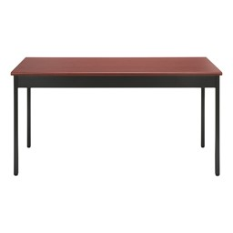 "Heavy-Duty Utility Table w/ Scratch-Resistant Paint (24"" W x 60"" L) - Cherry"