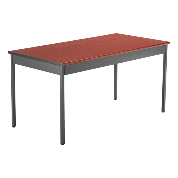 "Heavy-Duty Utility Table w/ Scratch-Resistant Paint (30"" W x 60"" L) - Cherry"
