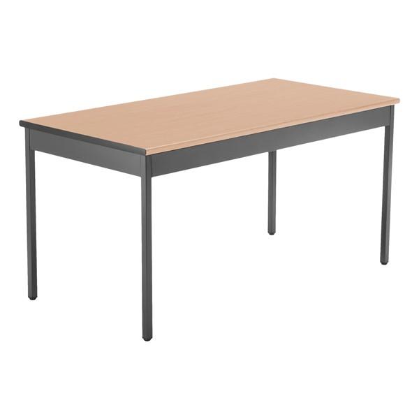 "Heavy-Duty Utility Table w/ Scratch-Resistant Paint (30"" W x 60"" L) - Maple"