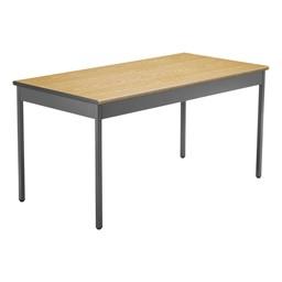 """Heavy-Duty Utility Table w/ Scratch-Resistant Paint (30"""" W x 60"""" L) - Oak"""