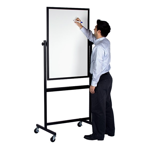 Double-Sided Magnetic Whiterboard Easel