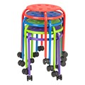 Mobile Assorted Color Plastic Stack Stool w/ Stability Ring