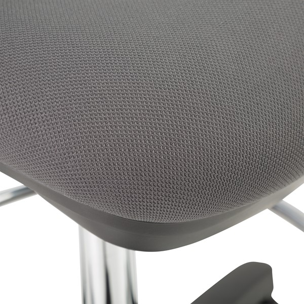 Adjustable-Height Mesh Drafting Stool w/ Arms - Seat - Detail