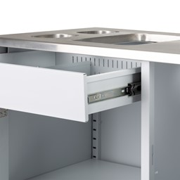 PPE Stainless Steel Sanitation Station - Slide Out Drawer
