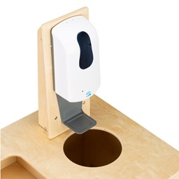PPE Sanitation Station w/ Baltic Birch Top & Hand Sanitizer Dispenser Mount