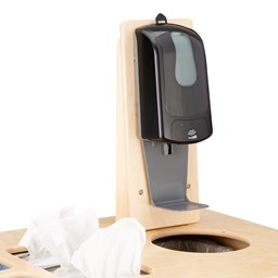 Sanitation Station w/ Baltic Birch Top, Hand Sanitizer Dispenser Mount & Hand Sanitizer Dispenser