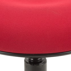 Sit-to-Stand Active Stool w/ Pivot Round Seat - Seat - Detail - Red