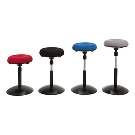 Sit-to-Stand Active Stool w/ Pivot Round Seat - Color Options