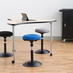 Sit-to-Stand Active Stool w/ Pivot Round Seat