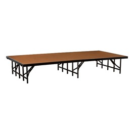 """Single-Height Portable Stage & Seated Riser Section w/ Hardboard Deck (8\' L x 4\' D x 16\"""" H)"""