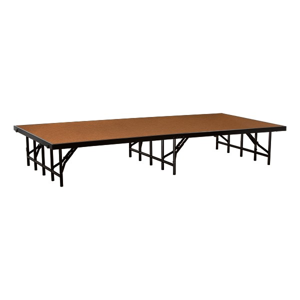 """Single-Height Portable Stage & Seated Riser Section w/ Hardboard Deck (8' L x 4' D x 16"""" H)"""