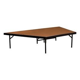 "Pie-Shaped Riser Unit w/ Hardboard Deck (4\' D x 16\"" H)"