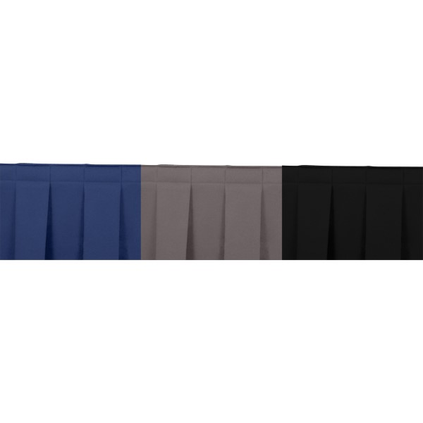 Box Pleat Stage Skirting - Royal Blue, Charcoal Grey, Black
