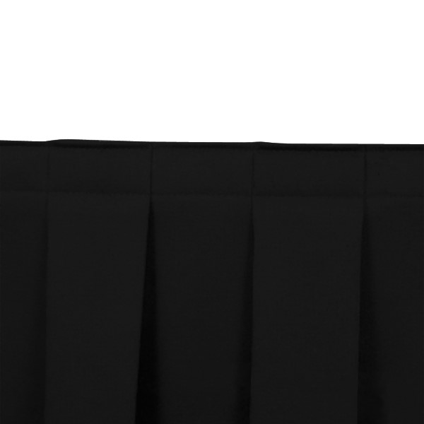 Box Pleat Stage Skirting - Black