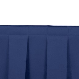 Box Pleat Stage Skirting - Royal Blue