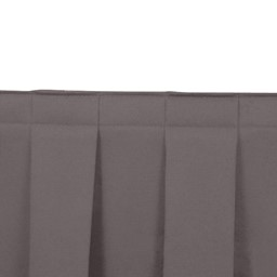 Box Pleat Stage Skirting - Charcoal Grey