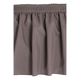 Shirred Pleat Stage Skirting - Charcoal Grey