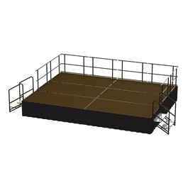 24-Person Rectangle Stage Package w/ Hardboard Deck (16\' L x 12\' D)