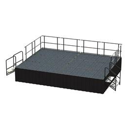 24-Person Rectangle Stage Package w/ Carpet Deck (16\' L x 12\' D)