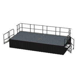 16-Person Rectangle Stage Package w/ Carpet Deck (16\' L x 8\' D)