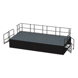 16-Person Rectangle Stage Package w/ Carpet Deck (16\' L x 8\' D)