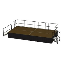 16-Person Rectangle Stage Package w/ Hardboard Deck (16\' L x 8\' D)