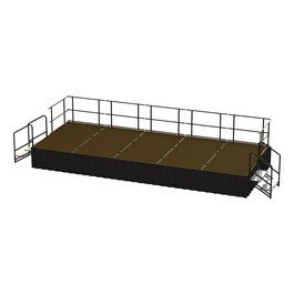 20-Person Rectangle Stage Package w/ Hardboard Deck (20\' L x 8\' D)