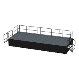 20-Person Rectangle Stage Package w/ Carpet Deck (20\' L x 8\' D)