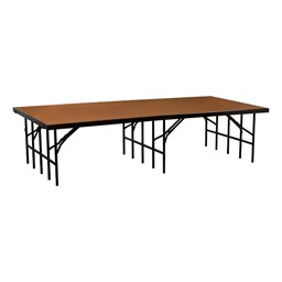 """Single-Height Portable Stage & Seated Riser Section w/ Hardboard Deck (8' L x 4' D x 24"""" H)"""
