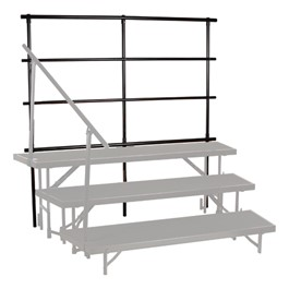 """Tapered Riser Guardrail (For Use w/ 24\"""" H Tapered Riser) - Risers not included"""