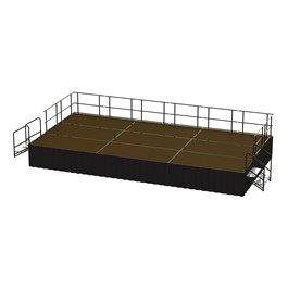 36-Person Rectangle Stage Package w/ Hardboard Deck (24\' L x 12\' D)
