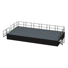 36-Person Rectangle Stage Package w/ Carpet Deck (24\' L x 12\' D)