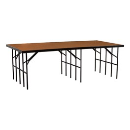 """Single-Height Portable Stage & Seated Riser Section w/ Hardboard Deck (8\' L x 4\' D x 32\"""" H)"""