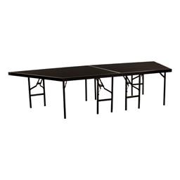 """Pie-Shaped Riser Unit w/ Carpet Deck (4' D x 32"""" H)"""