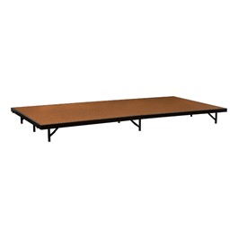 """Single-Height Portable Stage & Seated Riser Section w/ Hardboard Deck (8\' L x 4\' D x 8\"""" H)"""