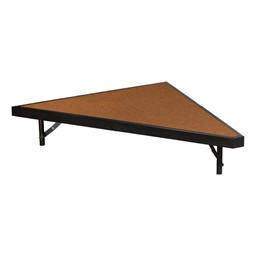 "Pie-Shaped Riser Unit w/ Hardboard Deck (3' D x 8"" H)"