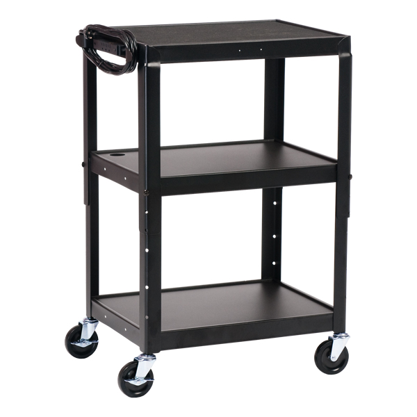 Norwood Adjustable-Height Steel AV Cart