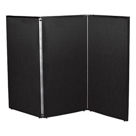 "5\' 7"" H Folding Display Partition (5\' L) - True black"
